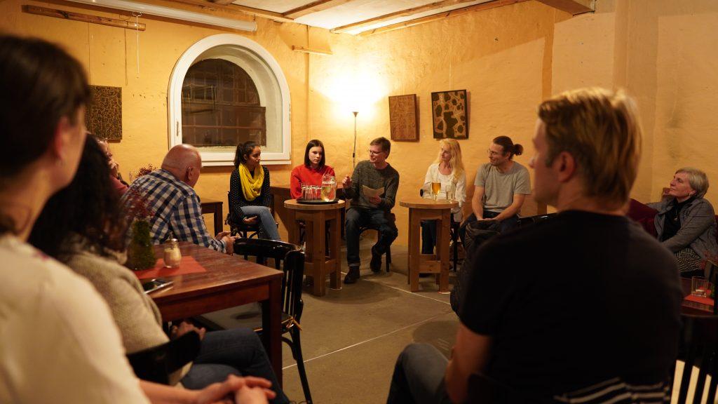 Diskussionsveranstaltung im Speichercafé